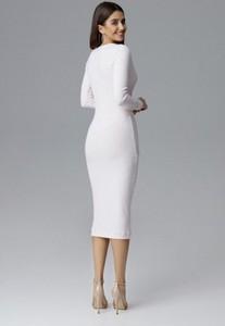 Sukienka Figl midi z długim rękawem z tkaniny
