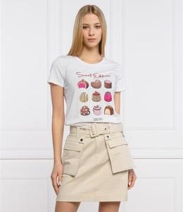 T-shirt Liu-Jo z okrągłym dekoltem z krótkim rękawem