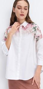 Różowa koszula Mohito z bawełny
