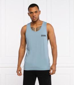 Niebieski t-shirt Hugo Boss z bawełny w stylu casual z krótkim rękawem