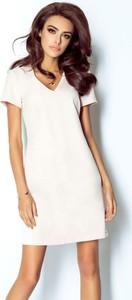 Sukienka Moda Dla Ciebie mini z krótkim rękawem