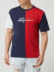 T-shirt Review z bawełny z krótkim rękawem w młodzieżowym stylu