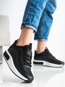 Czarne buty sportowe Czasnabuty na platformie