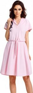Sukienka Lemoniade z dekoltem w kształcie litery v z dresówki z krótkim rękawem