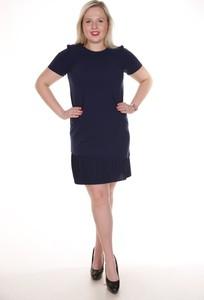 Granatowa sukienka Fokus midi