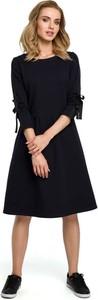 Sukienka MOE midi trapezowa z bawełny