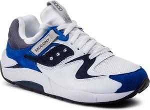 Buty sportowe Saucony z zamszu sznurowane w młodzieżowym stylu