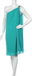 Turkusowa sukienka Mariposa bez rękawów z okrągłym dekoltem prosta