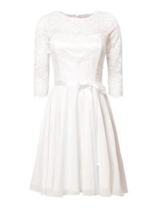 Sukienka Swing z długim rękawem z okrągłym dekoltem