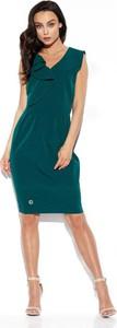 Zielona sukienka Lemoniade ołówkowa bez rękawów z dekoltem w kształcie litery v