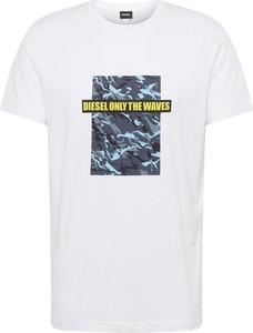 T-shirt Diesel z dżerseju z krótkim rękawem