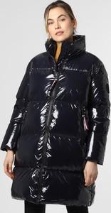 Czarny płaszcz Tommy Hilfiger ze skóry