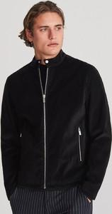 Czarna kurtka Reserved z zamszu