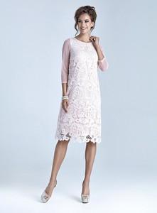 Sukienka Marselini midi z długim rękawem