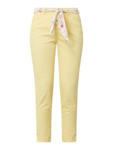 Żółte jeansy Christian Berg Women w stylu casual z bawełny