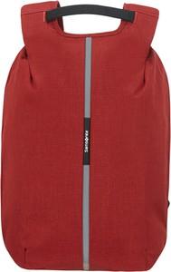 Czerwony plecak Samsonite ze skóry