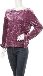 Fioletowa bluzka Frnch z długim rękawem