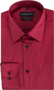 Fioletowa koszula giacomo conti z długim rękawem w stylu casual