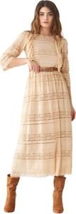 Sukienka Rinascimento maxi z długim rękawem w stylu casual