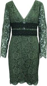 Zielona sukienka Diane Von Furstenberg Pre-owned mini z dekoltem w kształcie litery v