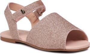 Różowe buty dziecięce letnie Bibi dla dziewczynek na rzepy