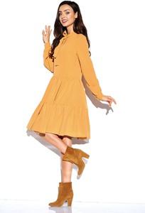 Żółta sukienka Lemoniade midi z długim rękawem w stylu casual
