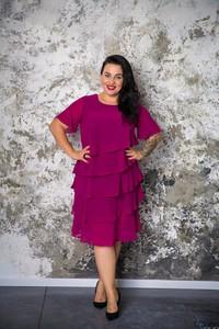 Sukienka tono.sklep.pl midi z krótkim rękawem