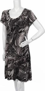 Czarna sukienka Premise rozkloszowana mini z okrągłym dekoltem