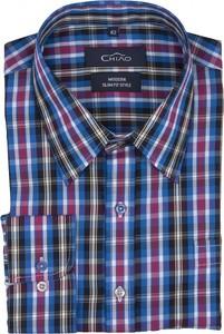 Niebieska koszula Chiao z bawełny