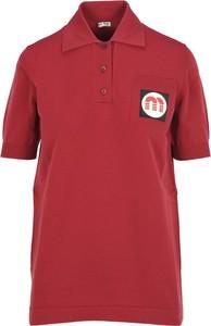 Czerwony t-shirt Miu Miu