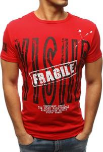Czerwony t-shirt Dstreet w młodzieżowym stylu