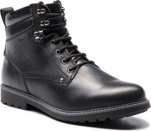 Buty zimowe Geox sznurowane ze skóry ekologicznej
