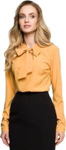 Bluzka Style z okrągłym dekoltem z tkaniny