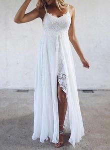 Sukienka Cikelly w stylu boho z szyfonu na ramiączkach