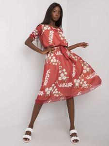 Sukienka Lakerta z krótkim rękawem z okrągłym dekoltem