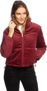 Czerwona kurtka Urban Classics krótka w stylu casual
