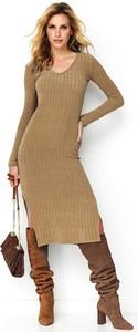 Sukienka Makadamia z dekoltem w kształcie litery v midi w stylu casual