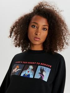 Czarna bluza Cropp w młodzieżowym stylu krótka