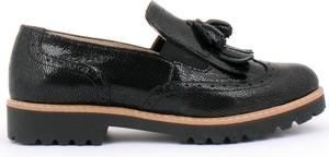 Czarne półbuty Zapato z nubuku na platformie