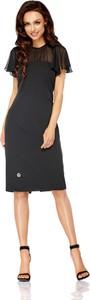 Czarna sukienka Lemoniade dopasowana