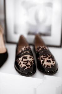 Brązowe półbuty Rose Boutique z zamszu w stylu glamour