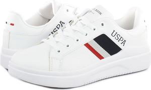 Buty sportowe Us Polo Assn ze skóry ekologicznej w sportowym stylu z płaską podeszwą