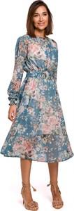Sukienka Stylove z długim rękawem w stylu casual midi