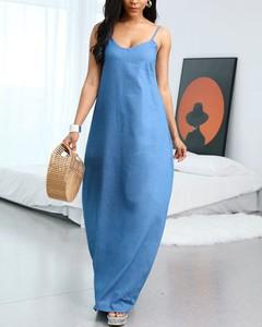 Sukienka Kendallme maxi z okrągłym dekoltem