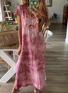 Różowa sukienka Sandbella maxi