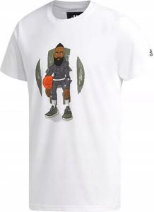 T-shirt Adidas z bawełny z krótkim rękawem