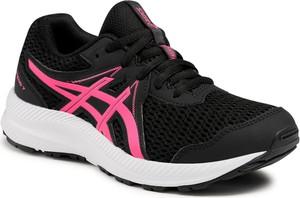 Czarne buty sportowe dziecięce ASICS dla dziewczynek