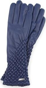 Granatowe rękawiczki Wittchen