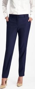 Granatowe spodnie Lavard z wełny