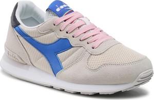 Buty sportowe Diadora z zamszu z płaską podeszwą sznurowane